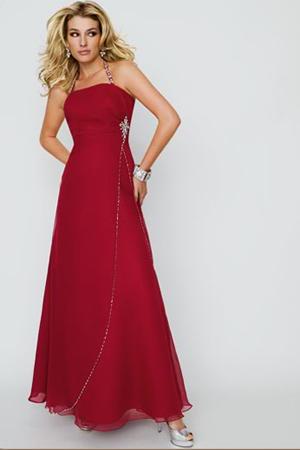 Rochie de seara lunga, rosie