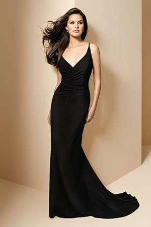 Rochie de seara neagra, lunga