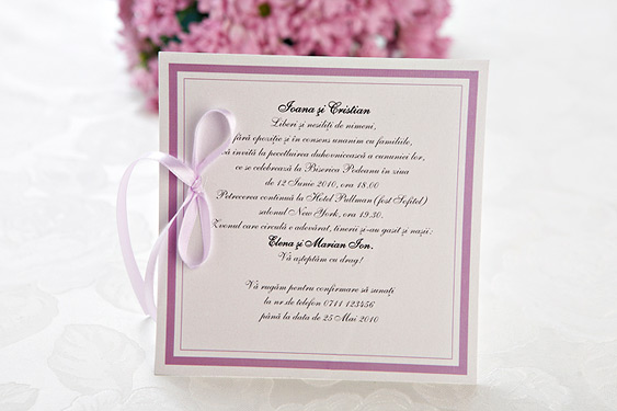 model invitatie de nunta