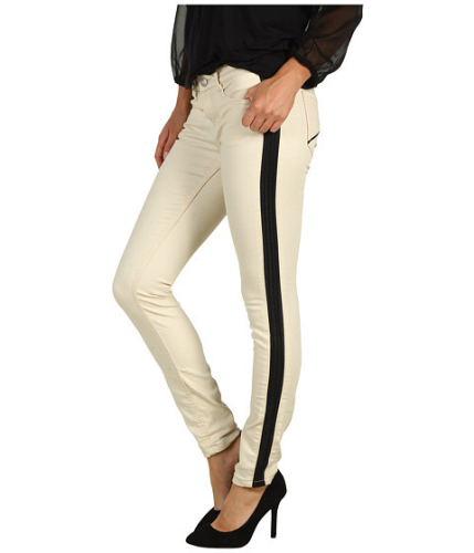 20 de Modele de blugi in tendinte pentru primavara 2013 -  Vegan Leather Trim Skinny Jean in Ecru