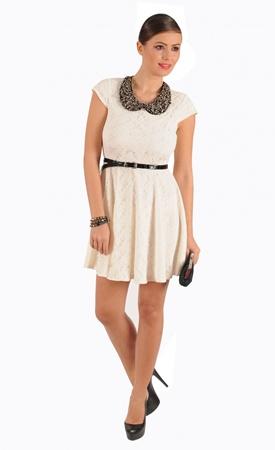 15 rochii de vara din dantela - Rochie din dantela de culoare ecru - Slide 4 din 15