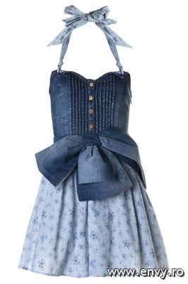 25 rochii pentru prima intalnire - Rochita  albastra cu fundita Yoko de la Mango Este o rochita vesela - Slide 1 din 25