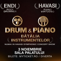 Batalia instrumentelor muzicale: Drum and piano