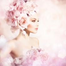 Coafuri de mireasa cu flori de primavara