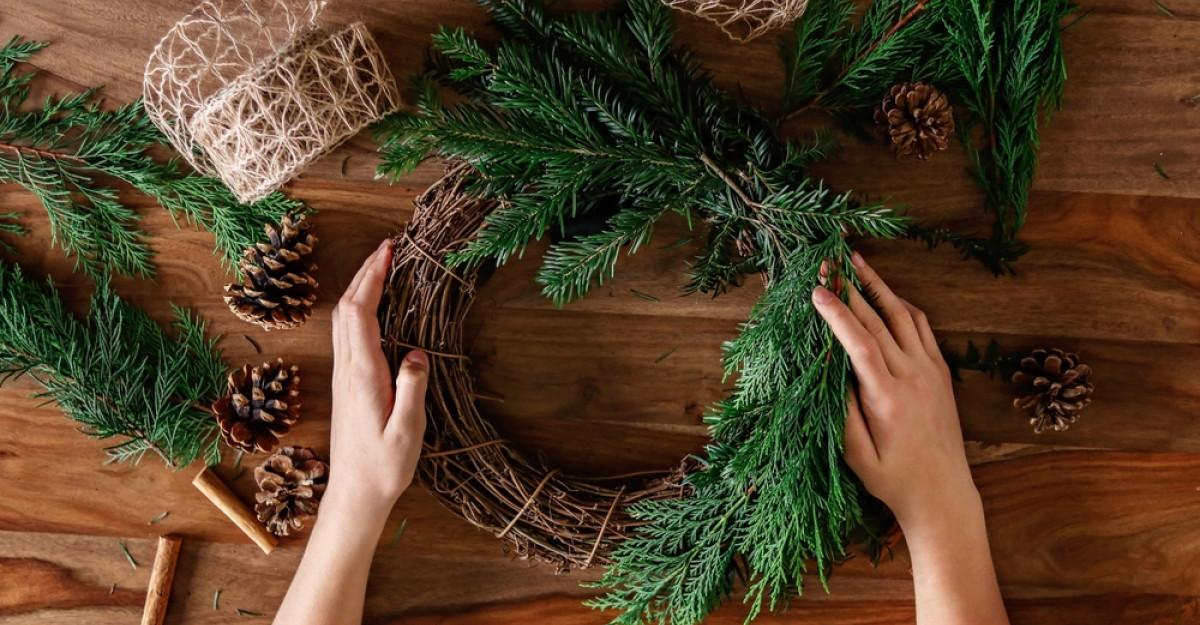 FOTO: Decorațiuni de Crăciun lucrate manual