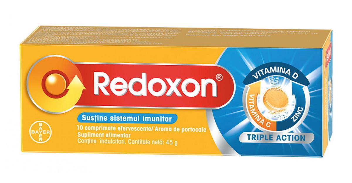 Redoxon® Triple Action oferit de Bayer reunește vitamina C, vitamina D și zincul pentru susținerea unui sistem imunitar sănătos