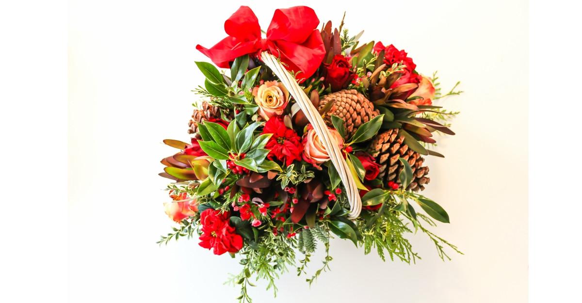 Aranjamente florale de Craciun pentru oferit cadouri speciale