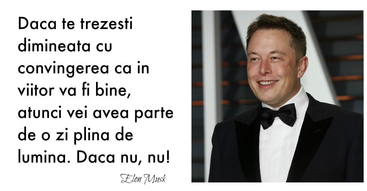 Citate inspirationale: Alfabetul progresului dupa Elon Musk