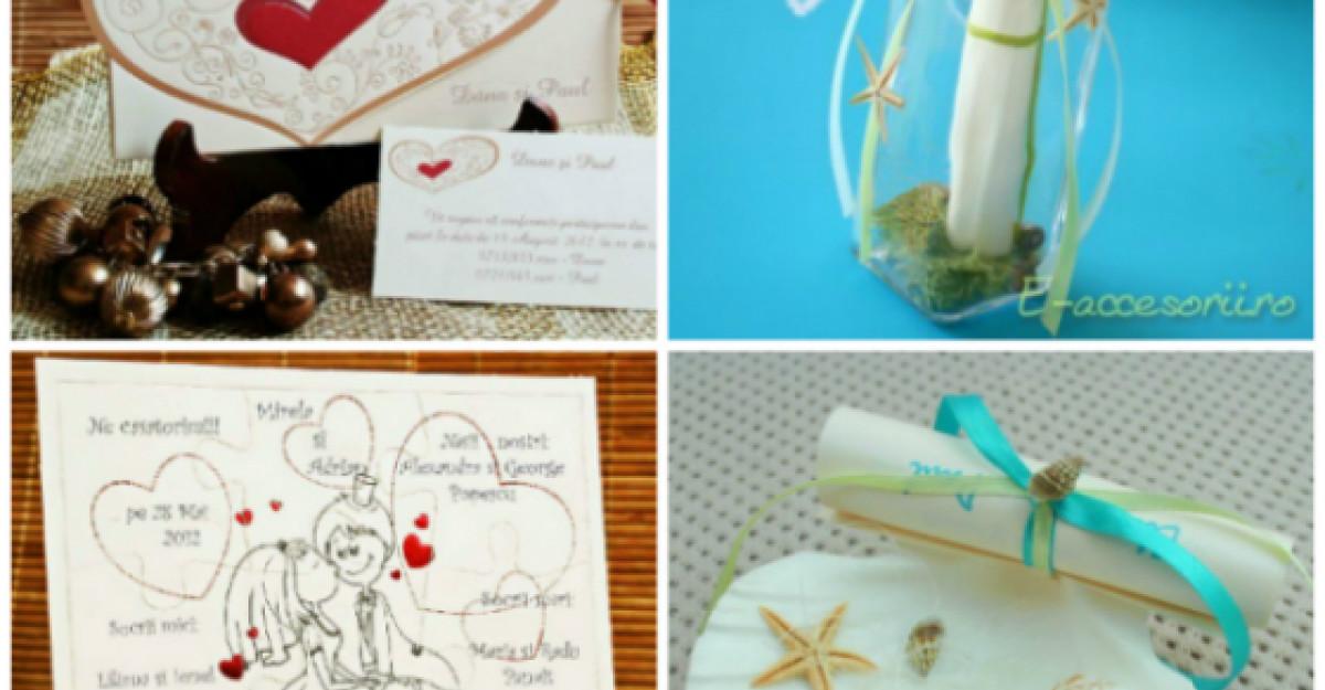 50 Invitatii de nunta spectaculoase