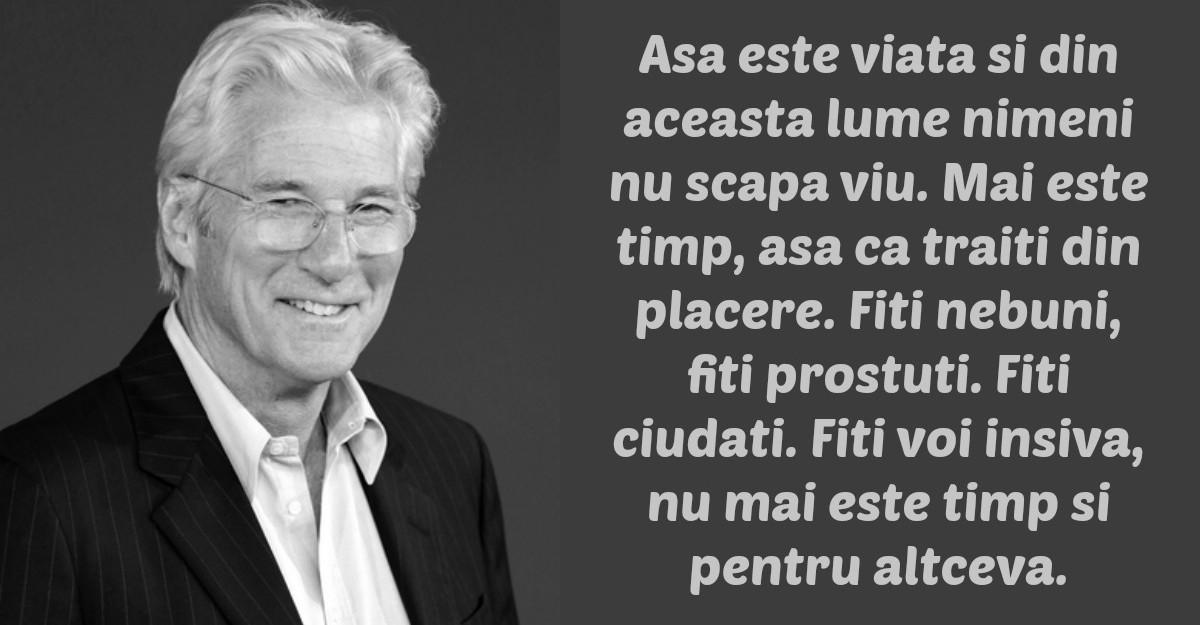 Mesajul lui Richard Gere pentru omenire
