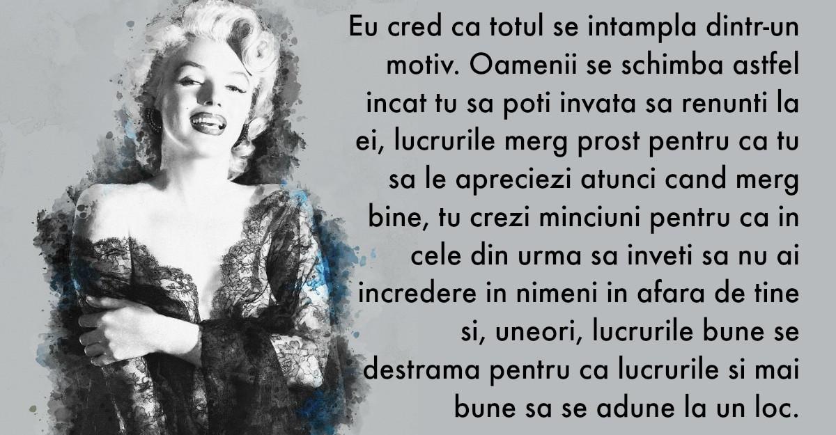 Cele mai frumoase citate ale lui Marilyn Monroe