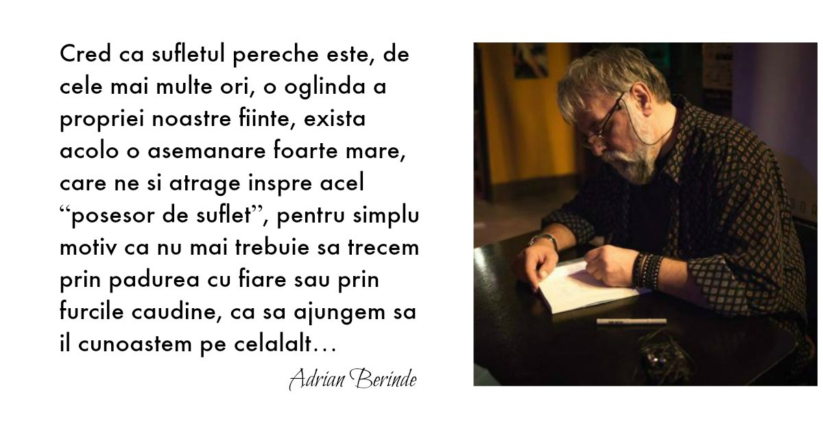 Adrian Berinde: In esenta, iubirea nu are nicio legatura cu suferinta