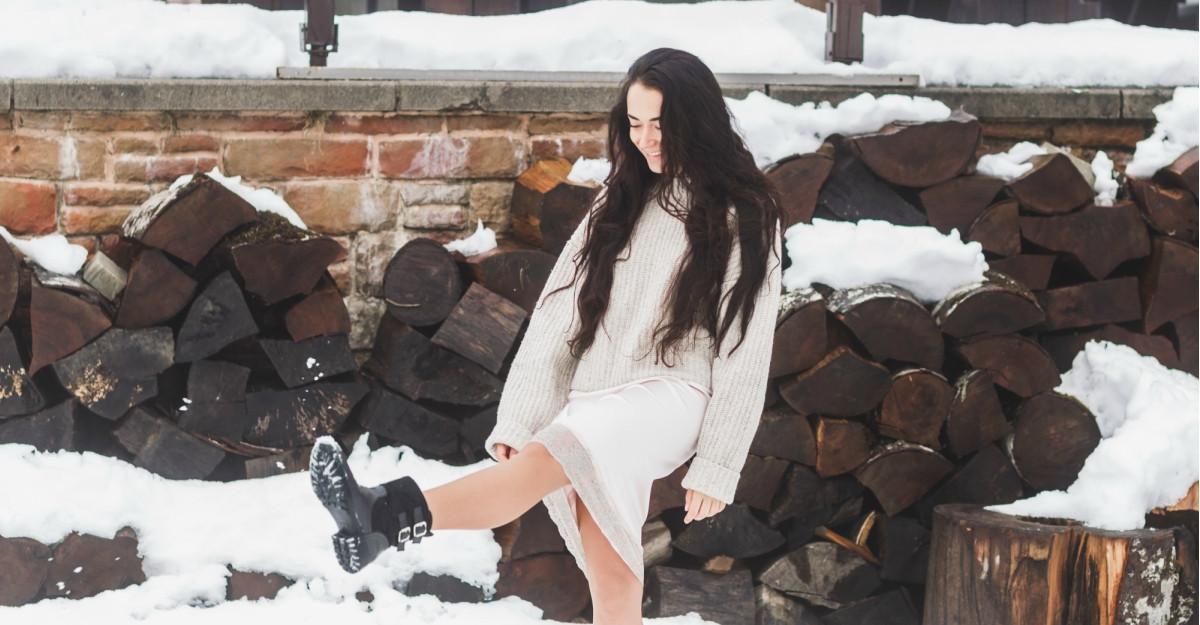 Fuste tricotate cu aer retro pentru zile reci, dar chic