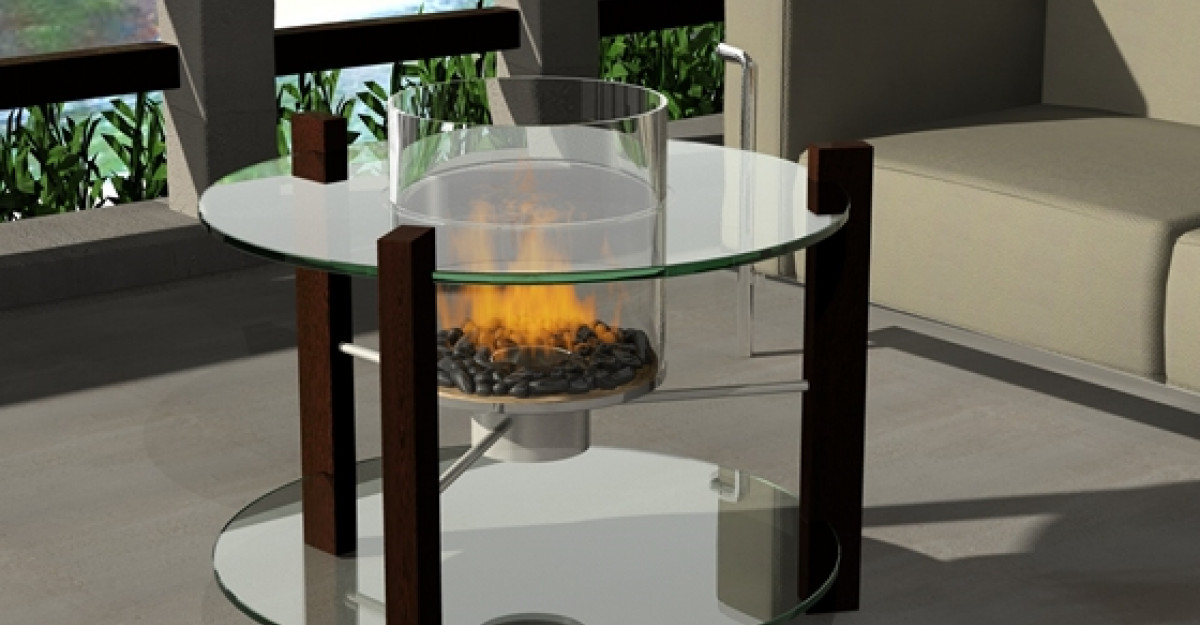 Biosemineul Veranda - efectul flacarilor intrun cilindru de sticla!