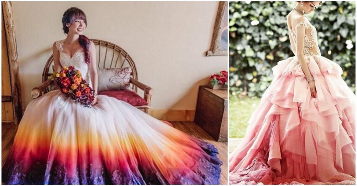 Noul trend pentru mirese: Cele mai frumoase rochii OMBRE
