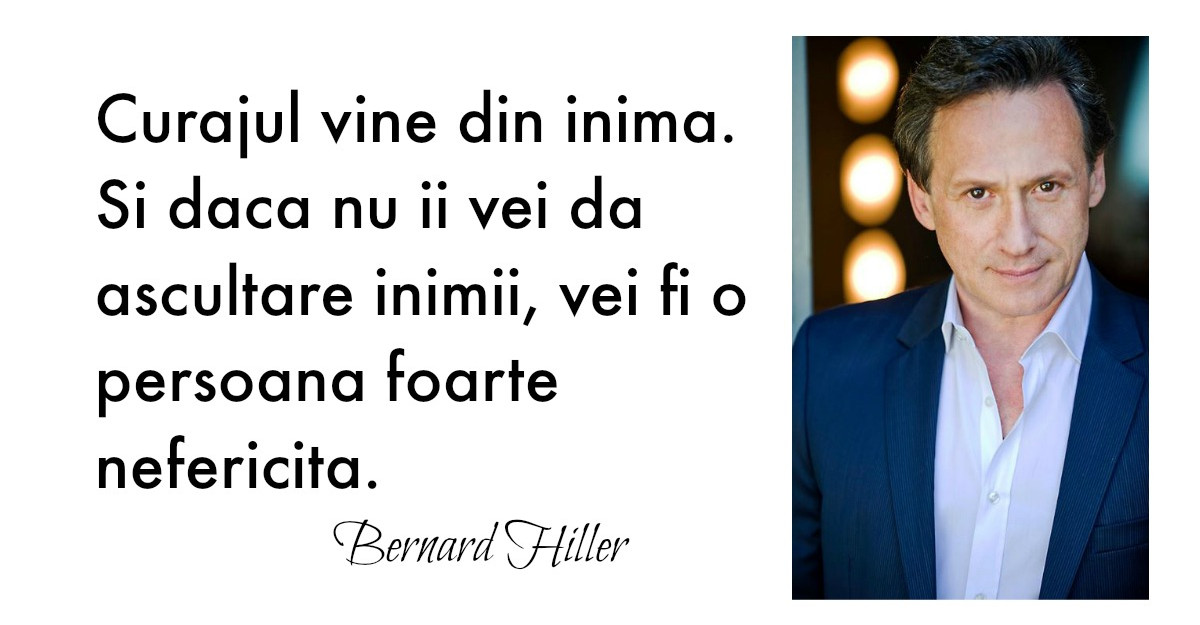 Bernard Hiller, profesorul vedetelor de la Hollywood: 'misiunea noastra este fericirea'