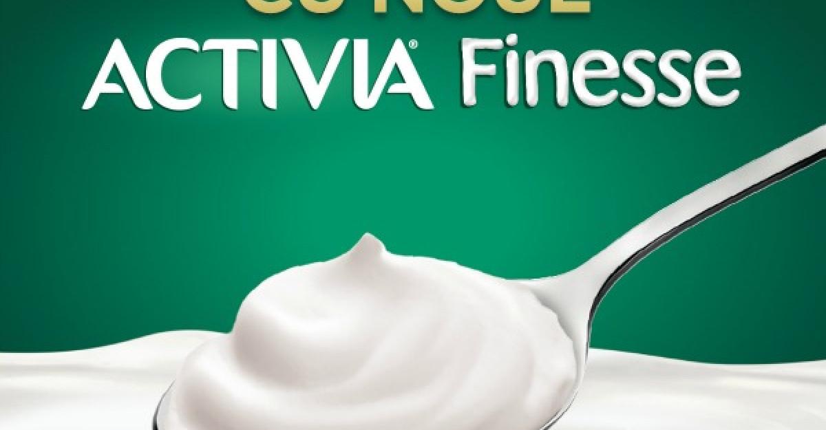 Daca iubesti iaurtul fin si cremos incearca Activia Finesse