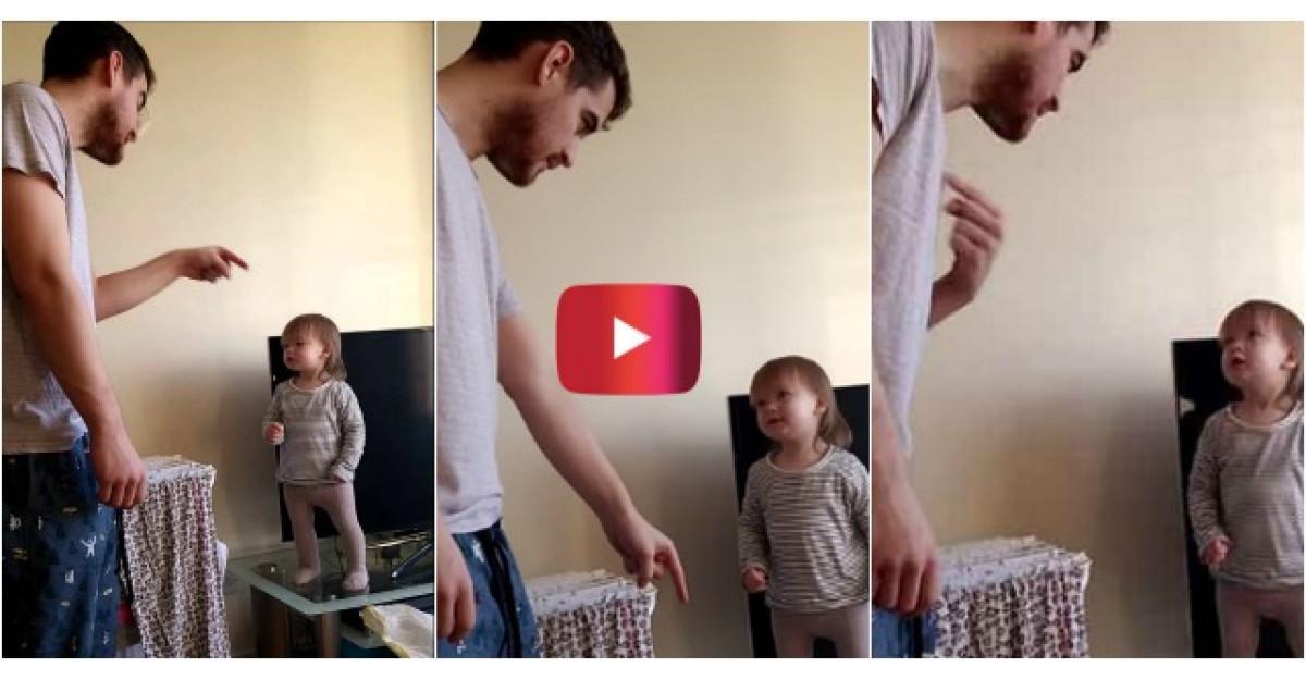 Video: Poate ca are un an, dar aceasta fetita i-a aratat tatalui cine-i seful in casa