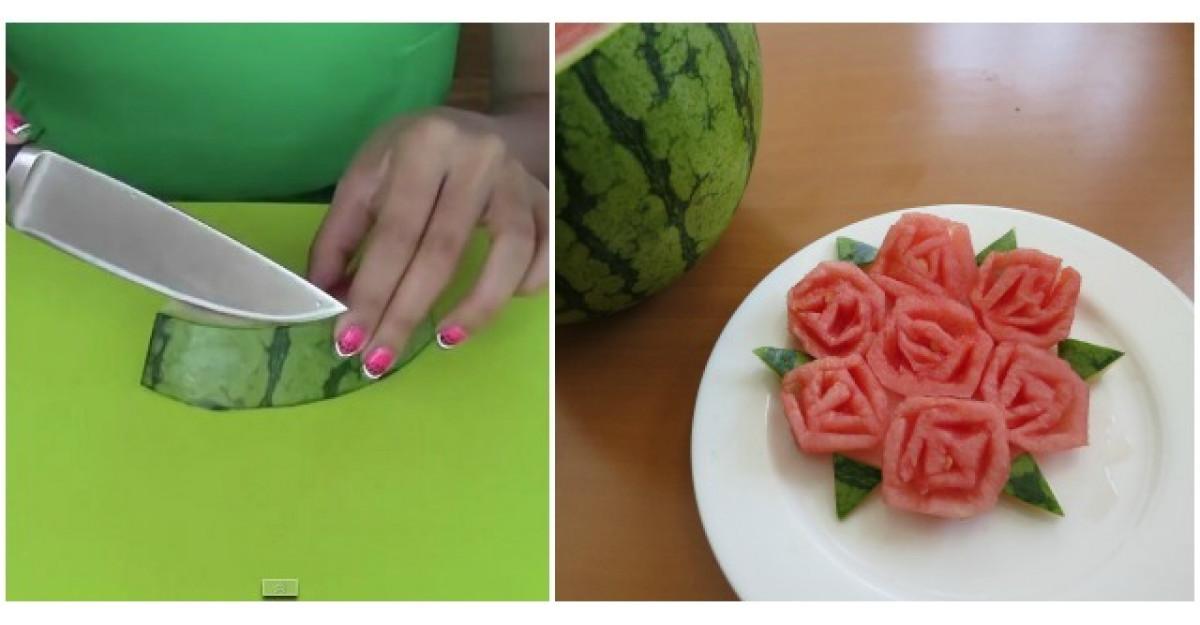 Video: Taie coaja unui pepene. Motivul? Abia astept sa incerc si eu