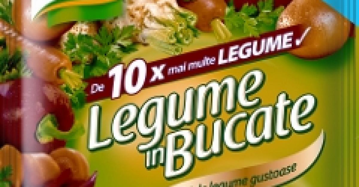 Knorr inoveaza Legume in Bucate, un condiment universal unic, cu bucati mari de legume