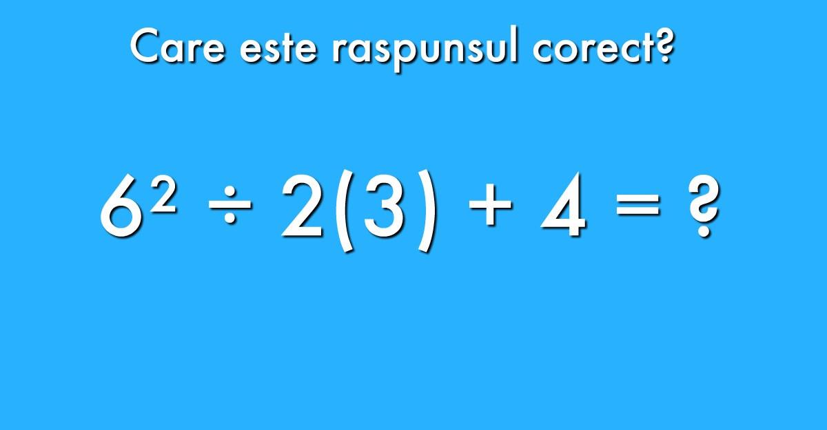 Mai mult de jumatate din cei care rezolva aceasta ecuatie gresesc raspunsul