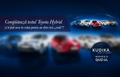 """Completeaza testul Toyota Hybrid si te poti urca la volan pentru un drive test """"verde""""!"""