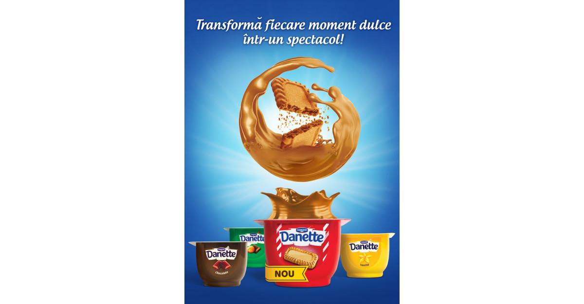 Danone lansează Danette Speculoos, cu gust spectaculos de biscuiți și caramel