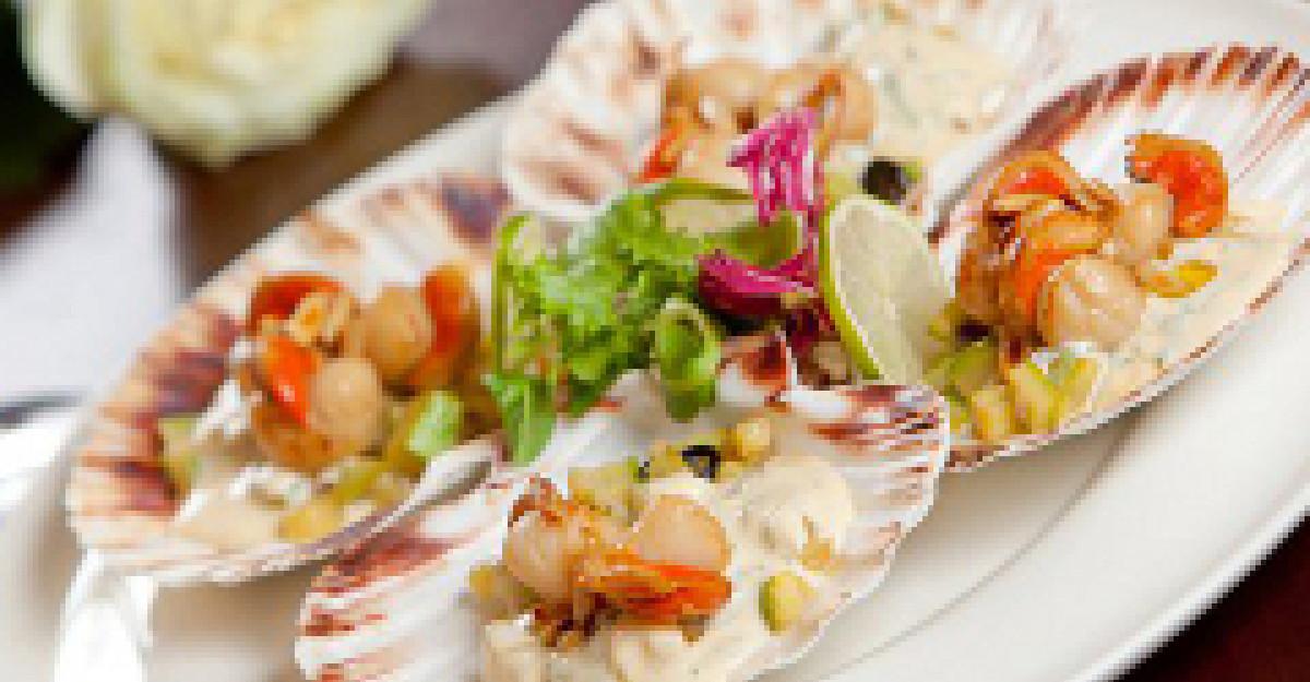 Kudi-reteta: St Jacques cu sos de muguri de pin
