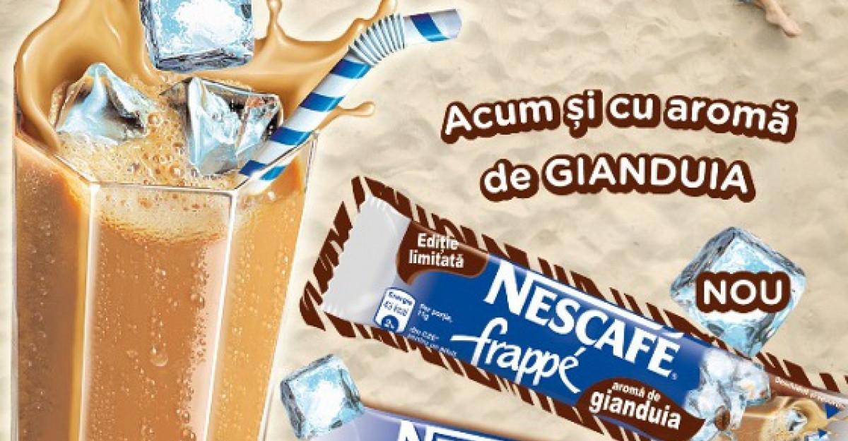 Racoreste-ti vara cu noul NESCAFE Frappe cu aroma de Gianduia!