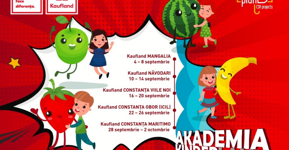 Caravana Akademia Kinderland, școala mobilă de vară despre alimentație sănătoasă pentru cei mici, a ajuns de astăzi pe litoral