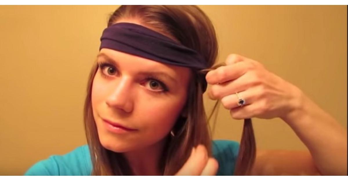 Video: Ia o suvita de par si o infasoara in jurul esarfei de pe cap. Trebuie sa incerc si eu asta