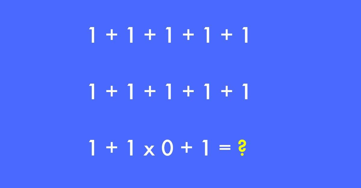 Este cea mai simpla ecuatie. Insa majoritatea oamenilor gresesc raspunsul