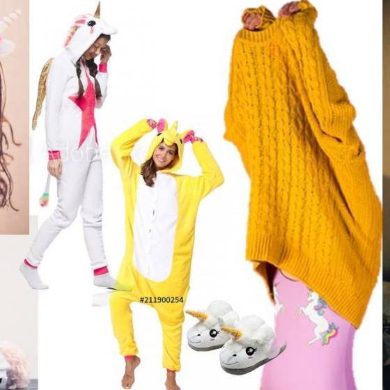 12 cele mai frumoase pijamale cu unicorni