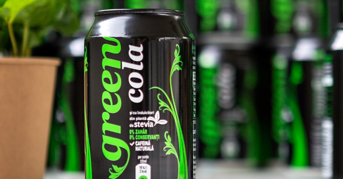 Green Cola – prima băutură răcoritoare de tip cola cu ingrediente naturale, fără zahăr și îndulcitori artificiali