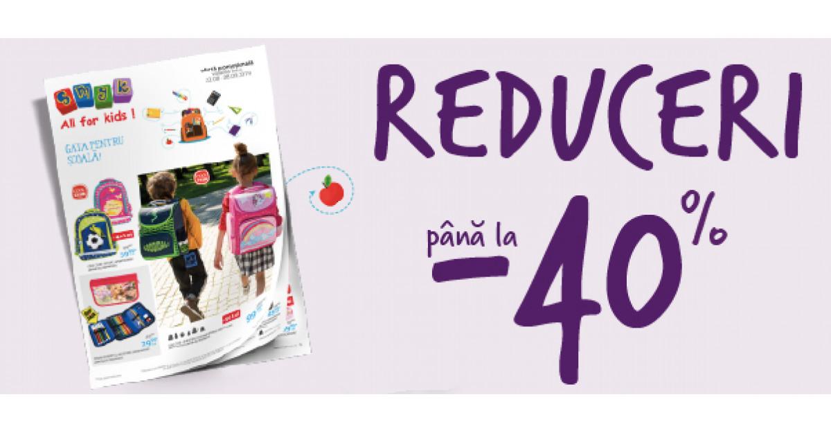 SMYK All for Kids dă startul pregătirilor pentru toamnă cu reduceri de până 40% la produsele pentru școală