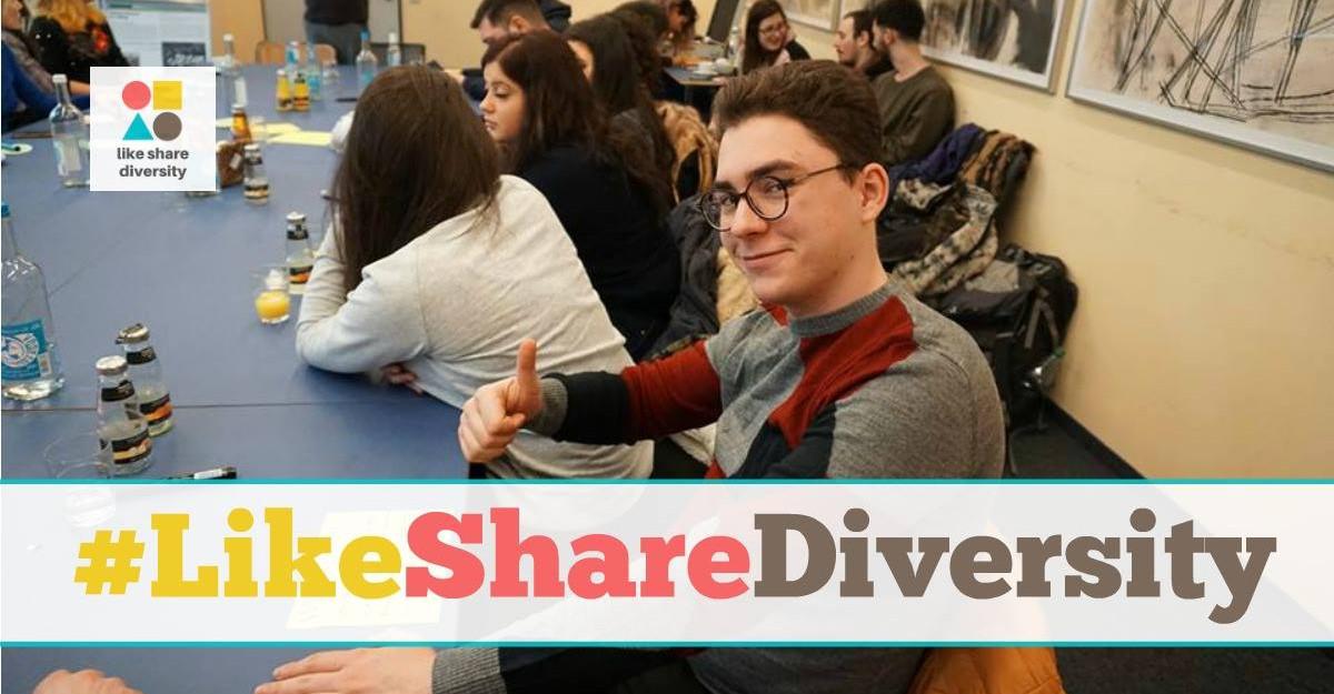 Like Share Diversity! Log out Hate Speech! Campanie a tinerilor împotriva discursului instigator la ură