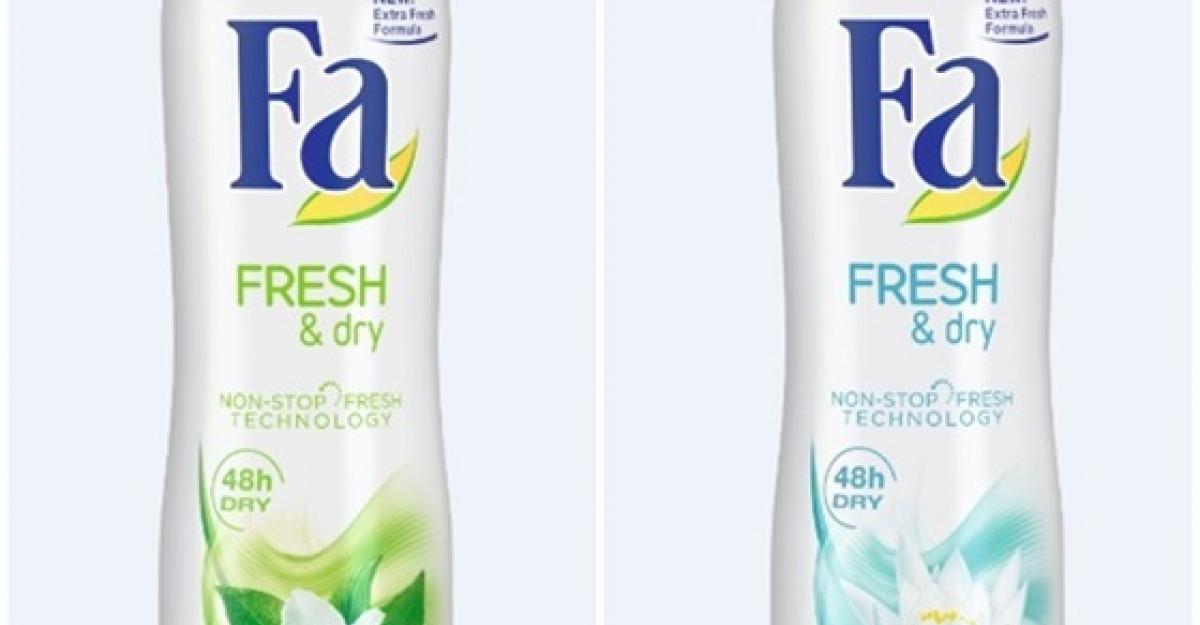 Fa Fresh & Dry - noua generatie de deodorante
