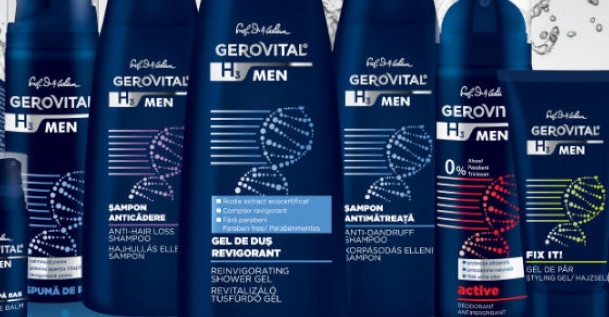 Farmec lanseaza Gerovital H3 MEN, gama completa de ingrijire pentru barbati
