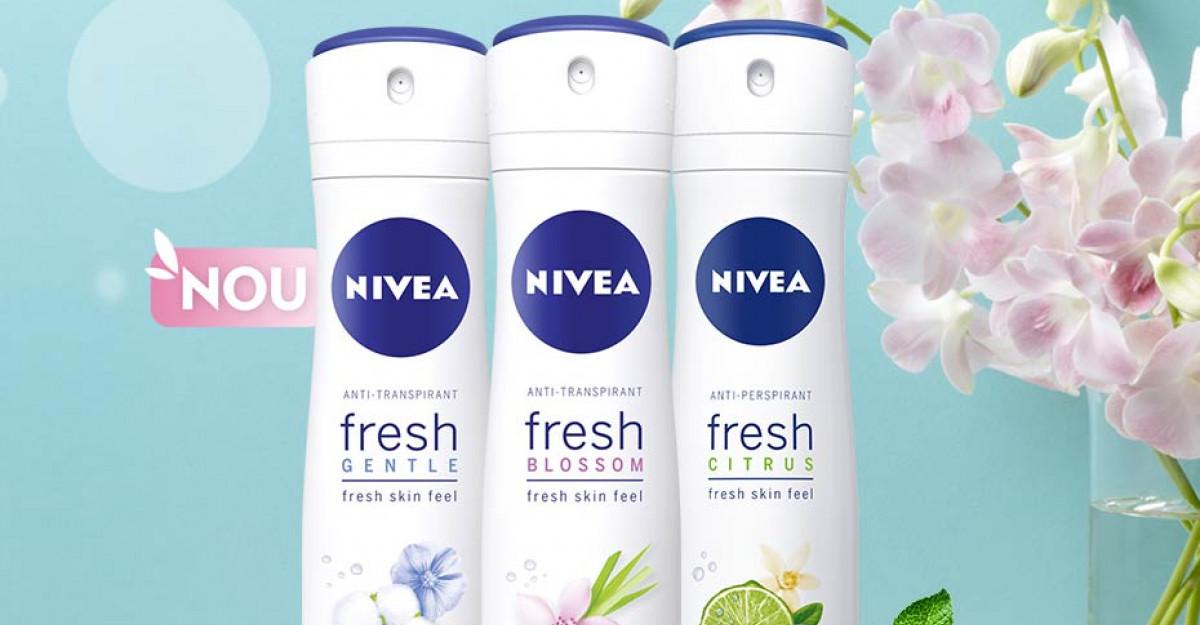 NIVEA lansează o noua gamă de antiperspirante: NIVEA FRESH