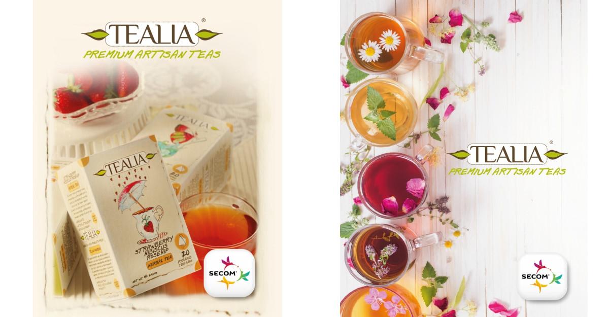 Secom® își extinde portofoliul cu o nouă categorie de produse, aducând în România brandul premium de ceaiuri TEALIA®