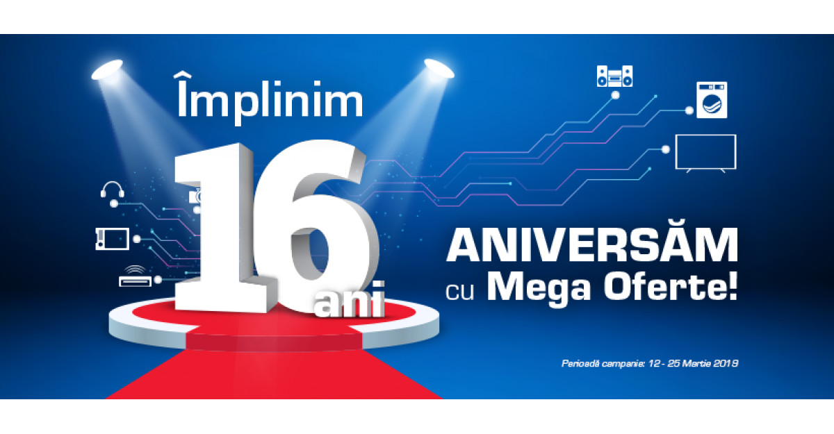 Mega oferte la aniversarea de 16 ani a Media Galaxy