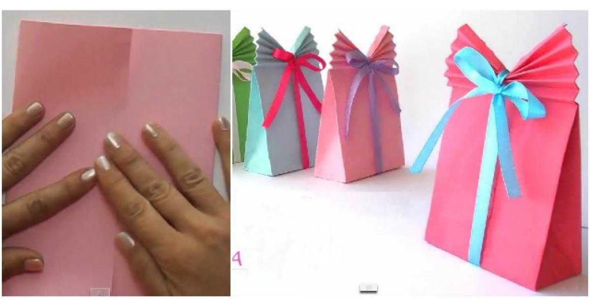 Video: Transforma o foaie colorata intr-o punga de cadouri SUPERBA in doar cateva clipe
