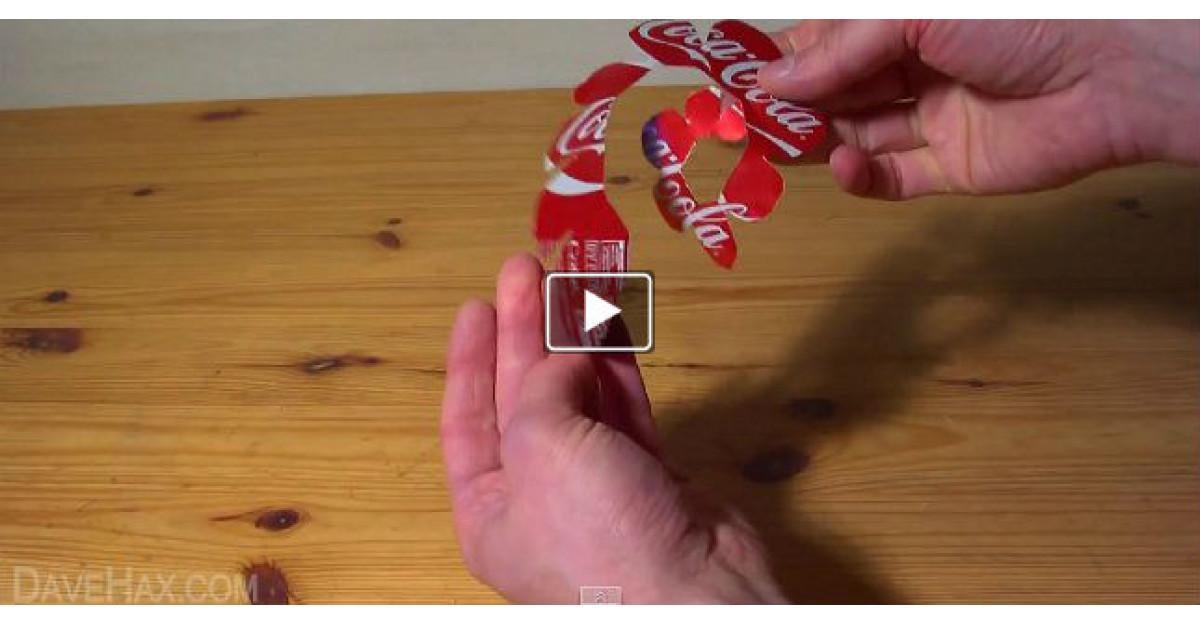 Video: Taie o cutie de suc pentru a face un super cadou pentru iubita lui