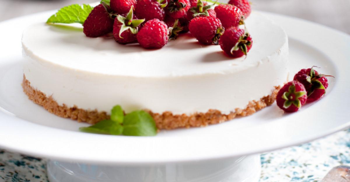 Desert de vara: cheesecake cu zmeura