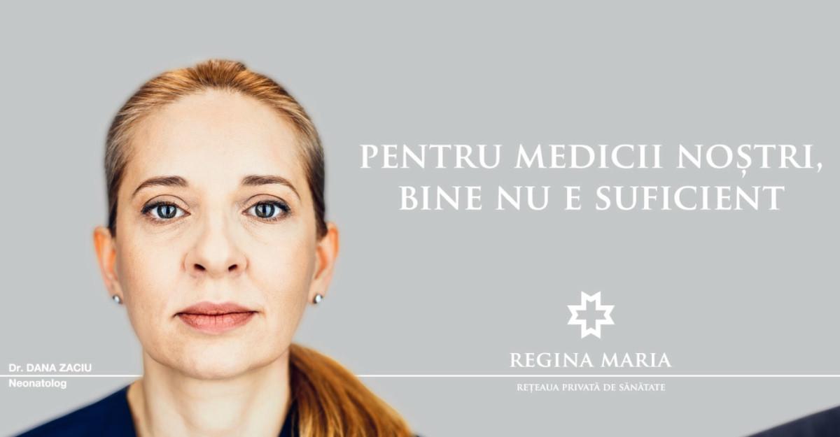 REGINA MARIA derulează campania - Bine nu e suficient