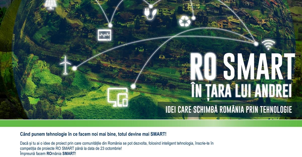 Se lansează RO SMART în Țara lui Andrei, competiția națională de proiecte care schimbă România prin tehnologie