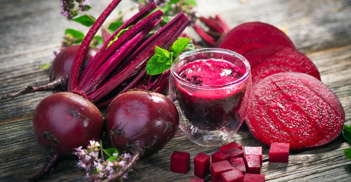 Energizant natural din sfecla rosie