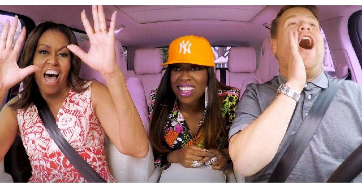 Michelle Obama, karaoke in masina!