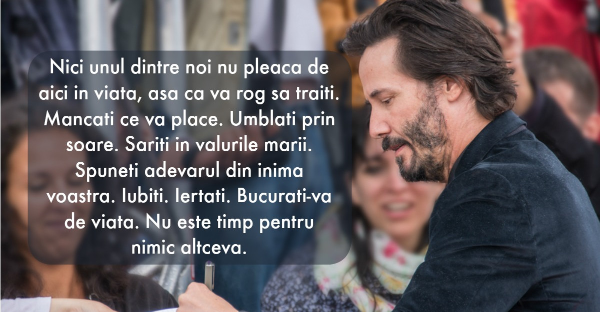 Cateva lectii de viata adevarate de la Keanu Reeves
