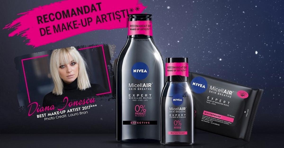 Make-up? Make-down – cu noile demachiante NIVEA MicellAIR® Skin Breathe Expert